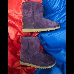 Purple UGG boots kids size 3